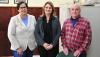 Magda Barreto, chefe de Gabinete; Rita Berni, assessora especial da Reitoria; e Saul de Castro, coordenador da Agência de Desenvolvimento Social (ADS) da regional Alegrete da FGTAS.