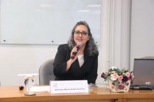 A professora Adriana Cantini participou da formação na escola judicial do TRT 12 em Florianópolis
